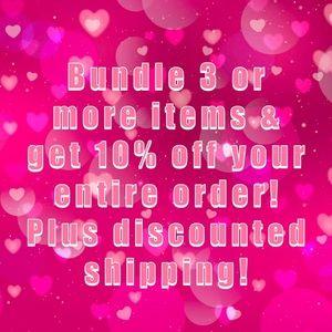 Bundle 3 or more & save 10%